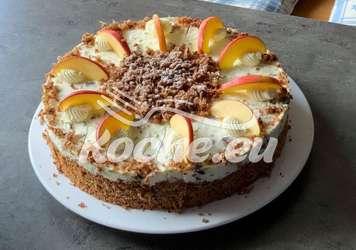 Apfelfrischkäsekuchen mit Pistazien und Cranberry