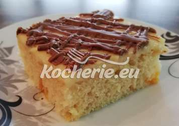 Mandarinen - Buttermilch Kuchen mit Vanillepudding und Schokoguss