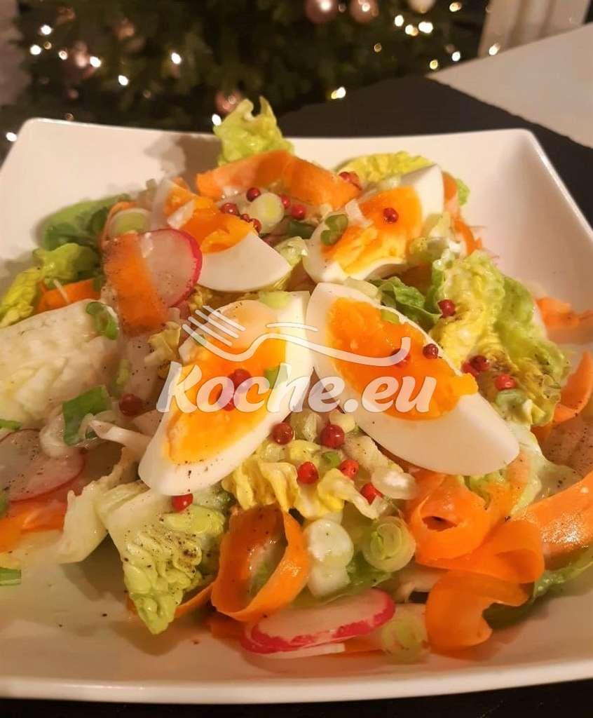 Fenchel-Salat mit Ei und Orangendressing